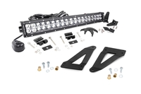 Image 20-inch Chrome Series Dual Row CREE LED Light Bar & Grille Mounts Kit (Wrangler