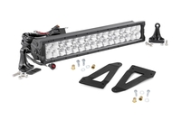 Image 20-inch X5 Series CREE LED Light Bar & Grille Mounts Kit (Wrangler JK / JKU)