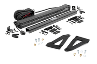 Image 20-inch Black Series Single Row CREE LED Light Bar & Grille Mounts Kit (Wrangler