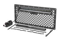Image Laser-Cut Mesh Grille w/ 20-inch Black Series Single Row CREE LED Light Bar (Wra