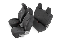 Image Jeep Neoprene Seat Cover Set | Black [07-10 Wrangler JK | 2 Door]