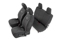 Image Jeep Neoprene Seat Cover Set | Black [13-17 Wrangler JK | 2 Door]