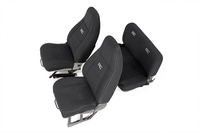 Image Jeep Neoprene Seat Cover Set | Black [87-90 Wrangler YJ]