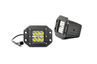 Image 2-inch Flush Mount Chrome Series CREE LED Square Lights (Pair)