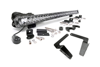 Image 30-inch Chrome Series Single Row LED Light Bar & Hidden Bumper Mounts Kit