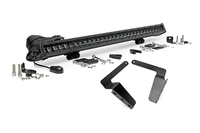 Image 30-inch Black Series Single Row LED Light Bar & Hidden Bumper Mounts Kit