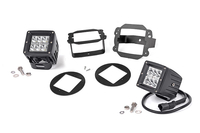 Image 2-inch Chrome Series CREE LED Fog Light Kit (10-18 Wrangler JK)