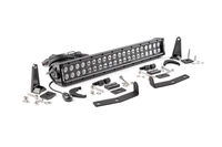 Image 20-inch Black Series Dual Row CREE LED Light Bar & Hidden Bumper Mounts Kit