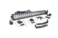 Image 20-inch Chrome Series Dual Row CREE LED Light Bar & Hidden Bumper Mounts Kit