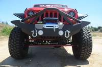 Image Steel Full Length Front Bumper w/ Skid Plate 07-16 Jeep Wrangler