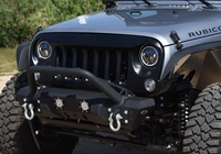 Image DV8 ABS Grill Textured Black 2007-2016 Jeep Wranglers
