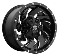 Image Cleaver Dually Front D574 - Black & Milled 20x8.25