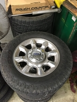 "Image 20"" Polished Aluminum Alloy Ford F250 wheels for sale."