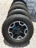 "Image (FIVE) A SET OF JEEP JK HARDROCK 17"" ALUMINUM WHEELS"