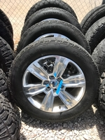"""Image 2017 Ford F150 FX4 Platinum 20"""" Polished Aluminum Wheels and Tires"""