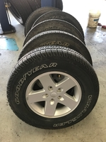 Image A Set of five Jeep JK used wheels and tires