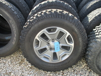 """Image Five Jeep JKU Rubicon 17"""" Gray aluminum wheels with BFG tires"""