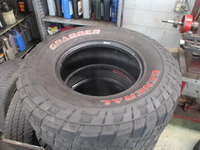 Image (FOUR) USED 35X12.50R17LT GENERAL GRABBER TIRES FOR SELL