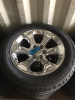 "Image Four 2019 Ram 1500 20"" Chrome wheels with tires"