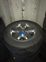 "Image A set of Four Ram 1500 20"" Chrome wheels with tires"