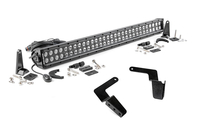 Image 30-inch Black Series Dual Row LED Light Bar & Hidden Bumper Mounts Kit